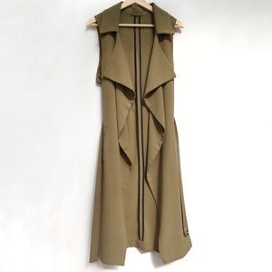 Topshop Long Draped Vest, Great Condition!